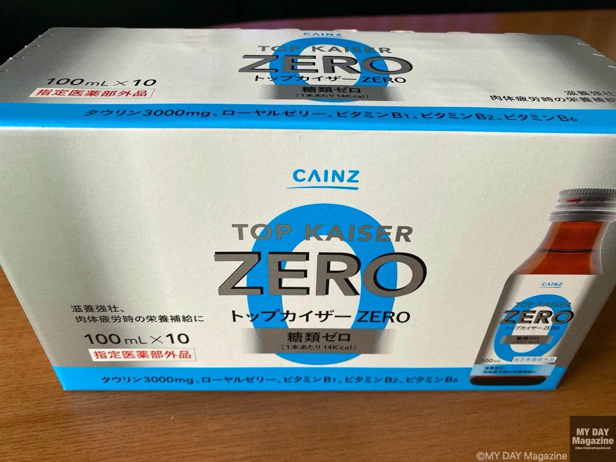 カインズホームで販売されている「トップカイザーZERO」はタウリンたっぷり、糖類0でおすすめ!